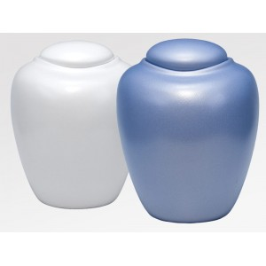 Sand and Gelatine Oceane Urn - Oceane Pearl (L) and Oceane Aqua Blue (R)